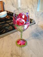 Painting your own set of custom wine glasses