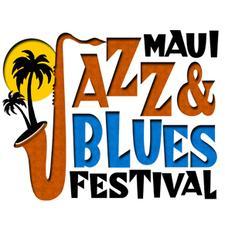 The Maui Jazz & Blues Festival, with HawaiiOnTV.com, The Four Seasons Resort Maui at Wailea, BMW of Maui & JazzAlleyTV.com logo