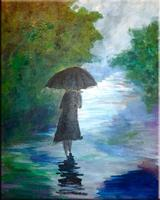 A Walk in the Rain Acrylic Painting Workshop