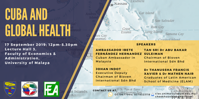 Cuba and Global Health Tickets, Tue, Sep 17, 2019 at 12:00