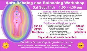 Aura Reading and Balancing Workshop