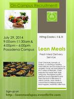 Lean Meals - On Campus Recruitment