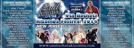 2nd USA BACHATA KIZOMBA FESTIVAL, October 3 to 5th