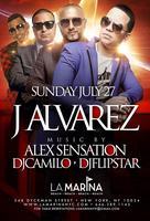 J Alvarez @ La Marina NYC Sunday July 27th 2014