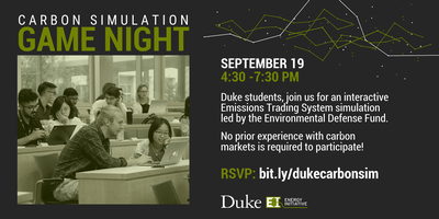 Carbon Trading Simulation, Sept  19, 2019 Tickets, Thu, Sep