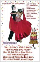NEW YEAR'S EVE BALLROOM, LATIN, SALSA DANCE AND DINNER...