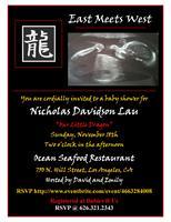 Baby Shower for Nicholas Davidson Lau