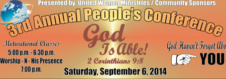United Women Ministries 3rd Annual People's Conference...