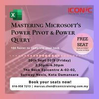 Discover Mastering Power Pivot & Power Query Tickets, Fri