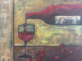 Painting A Pour of Red with Tipsy Muse