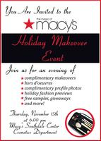 Macy's Holiday Makeover Event