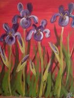 """Irises"" Step-by-Step Painting Event at Jaime's..."