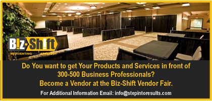Vendor Fair at Biz-Shift Event 11/06/14