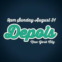 Depois - The Concert After - New York City - Labor Day...