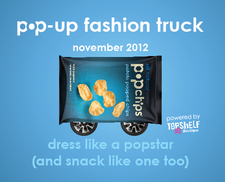 popchips pop-up fashion truck tour logo