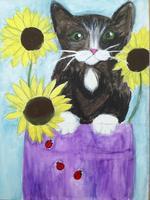 "AUGUST: Canvas Painting Class ""Kitten"""