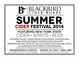 BlackBird Cider Works Summer Cider Festival 2014