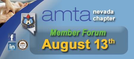 amta nevada chapter Member Forum - Aug 13, 2014