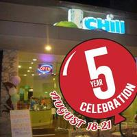 5 yrs in Business Celebration: Chill Frozen Yogurt,...