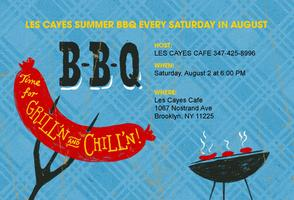 LES CAYES CAFE PRESENTS SUMMER BBQ'S EVERY SATURDAY IN...