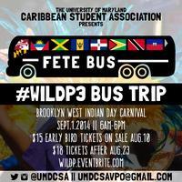 UMDCSA #WILDP3 BUS TRIP