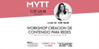 MYTT -  WORKSHOP CREACIÓN DE CONTENIDO PARA REDES