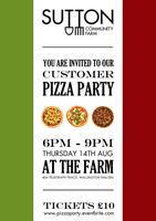 Customer Pizza Party at the Farm