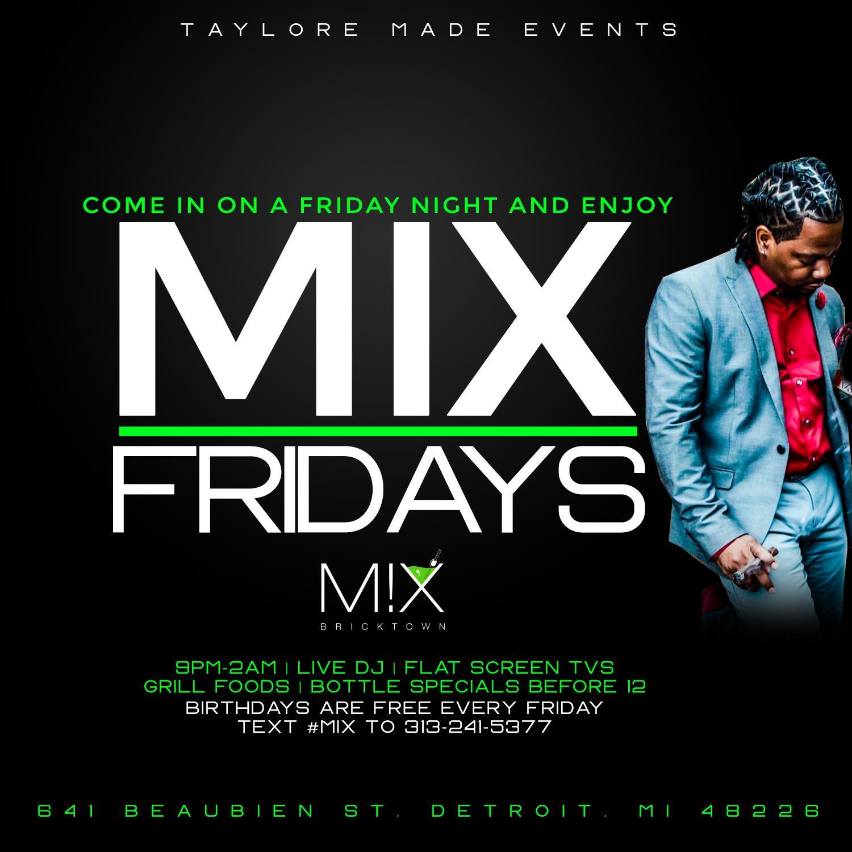 Mix Fridays Free Passes before `11pm