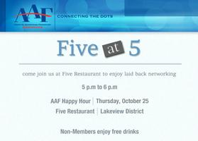 Five at 5: AAF Happy Hour