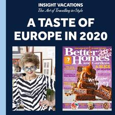 Better Homes and Gardens and Insight Vacations logo