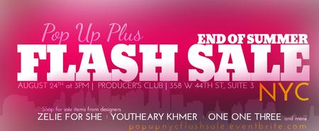 Pop Up Plus NY SUMMER FLASH SALE
