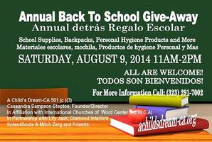 SCHOOL SUPPLIES GIVE-AWAY!!!!