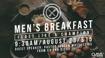 Oasis Mens Breakfast