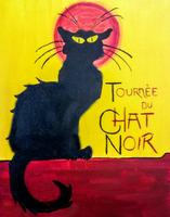 Le Chat Noir-The French Black Cat Painting Class - $5...