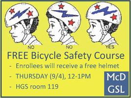 FREE Bicycle Safety Courses for Yale grad students &...