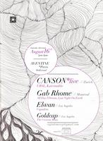 """CapsuleM presents """"LA debuts of CANSON (Live) and GAB..."""