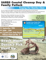 SARBS Annual Coastal Clean Up Day and Family Potluck