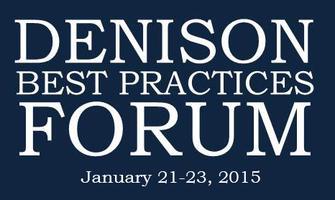 Denison Best Practices Forum 2015