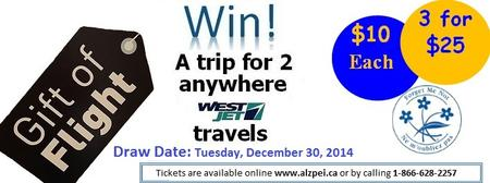 Gift of Flight - Win a trip for 2 any scheduled...