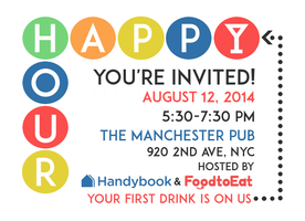Handybook and FoodtoEat Happy Hour
