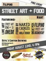 Filipino Food Truck & Street Art Night at Devil's...