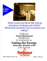 Eating for Energy