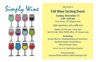 Simply Wine - A Fall Wine Tasting Event