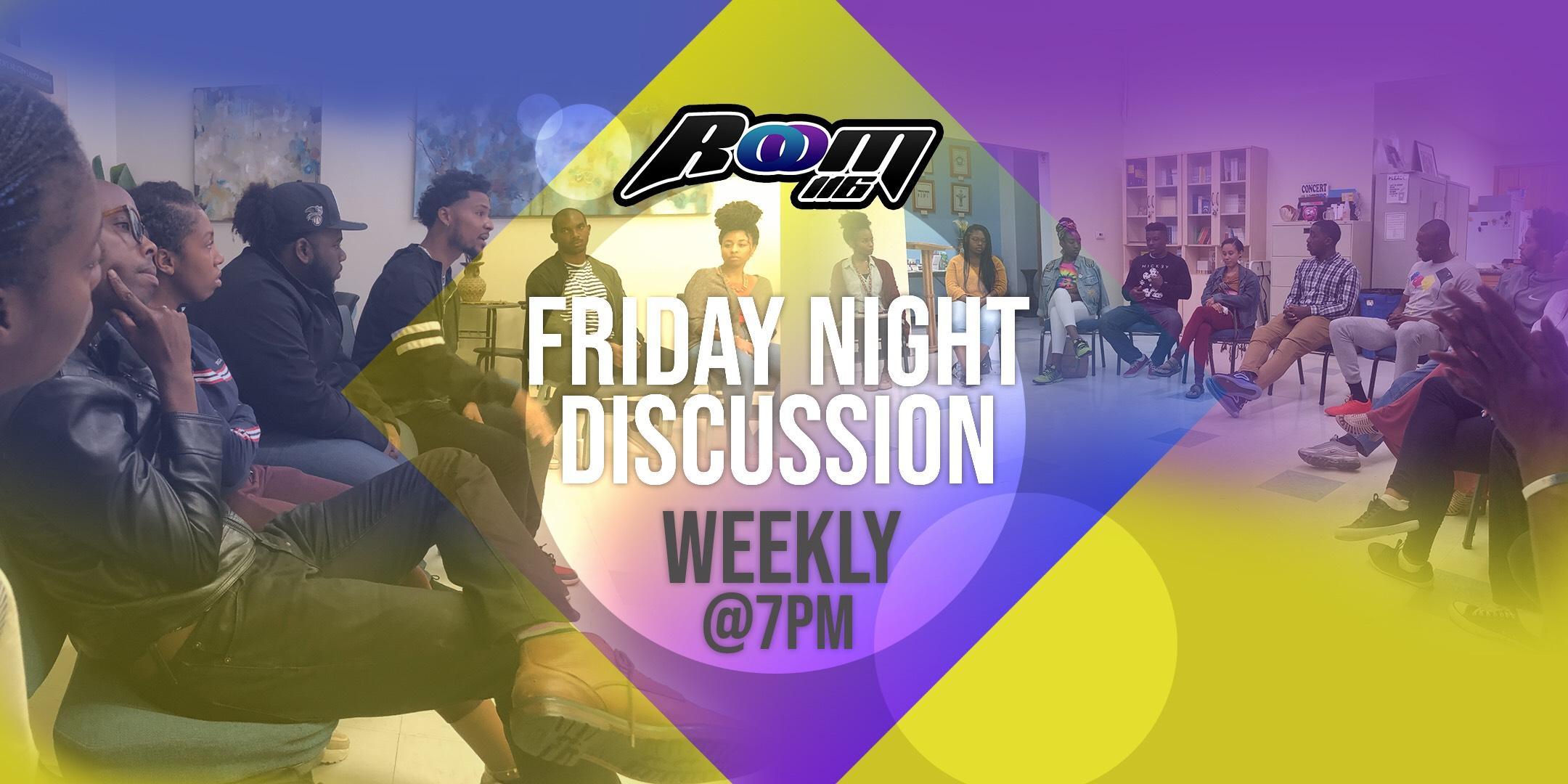 Friday Night Discussion + Music + Community Burger Night!