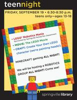 LEGO Mania Teen Night