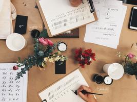 beginners modern calligraphy with @artbysarahku