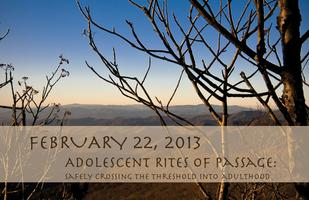 Adolescent Rites of Passage CEU Event
