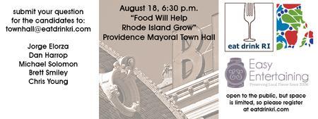 "Eat Drink RI presents the ""Food will help Rhode Island..."