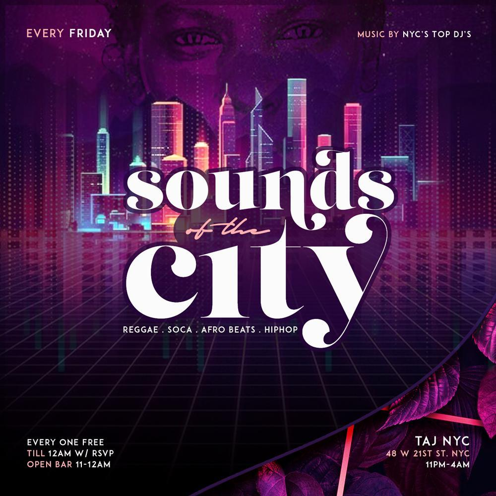 Sounds Of The City | Open Bar + Free Entry | hookah | kitchen