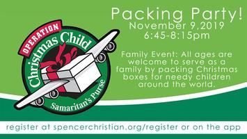 Operation Christmas Child Boxes 2019.2019 Operation Christmas Child Packing Party Tickets Sat